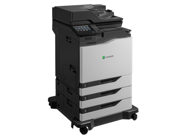 XC6152 + inline stapler + 2x 550 tray option + caster base RIGHT