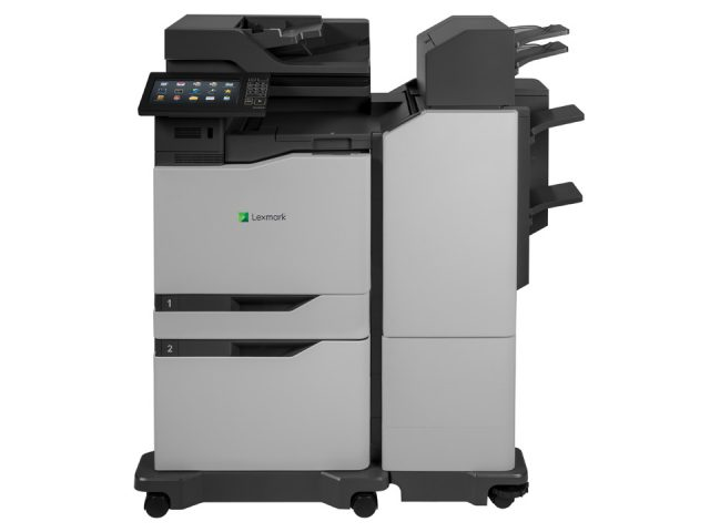 XC8160 with optional 2200 sheet drawer and tall super finisher_Front